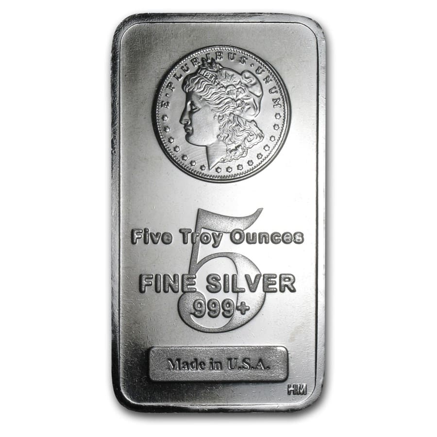 5 oz Silver Bar - Morgan Design