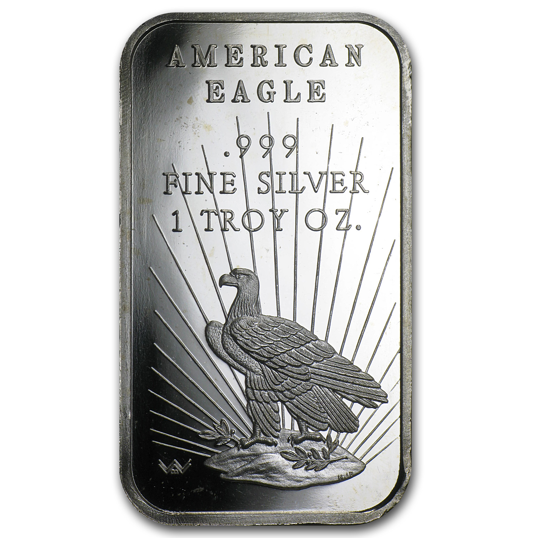 1 Oz Silver Bar World Wide Mint Eagle 1 Oz Silver