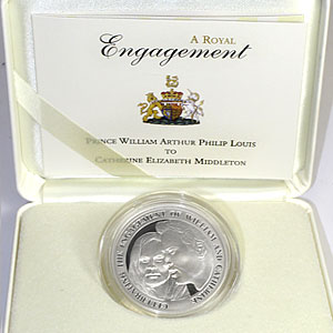 2010 Alderney 1 oz Silver Royal Engagement Proof