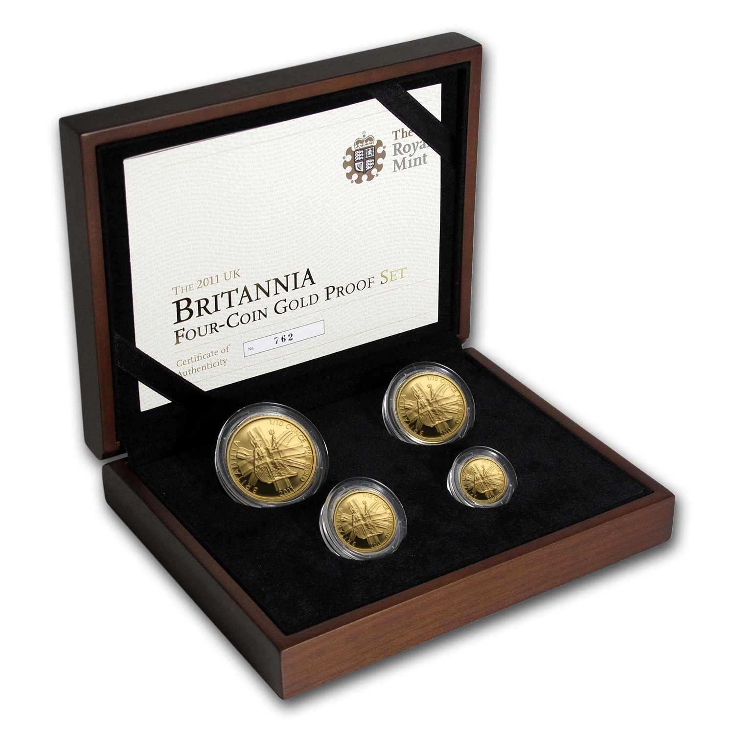 2011 4-Coin Gold Britannia Proof Set (w/Box & COA)