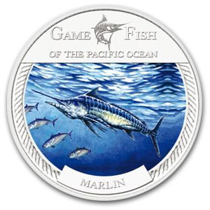 2009 Marlin Game Fish of the Pacific Ocean 1oz Silver Coin