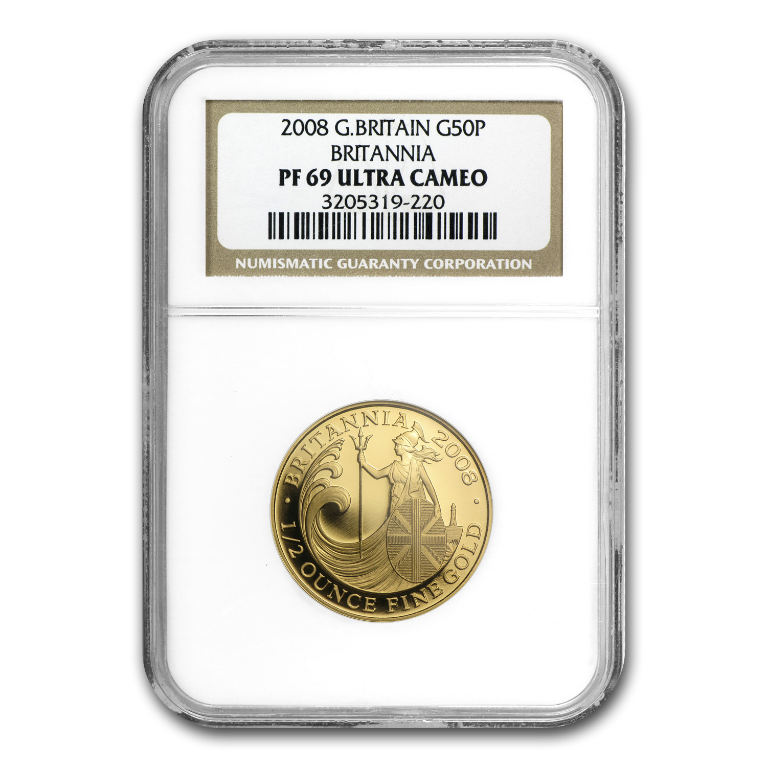 2008 4-Coin Proof Gold Britannia Set NGC PF-69 Ultra Cameo