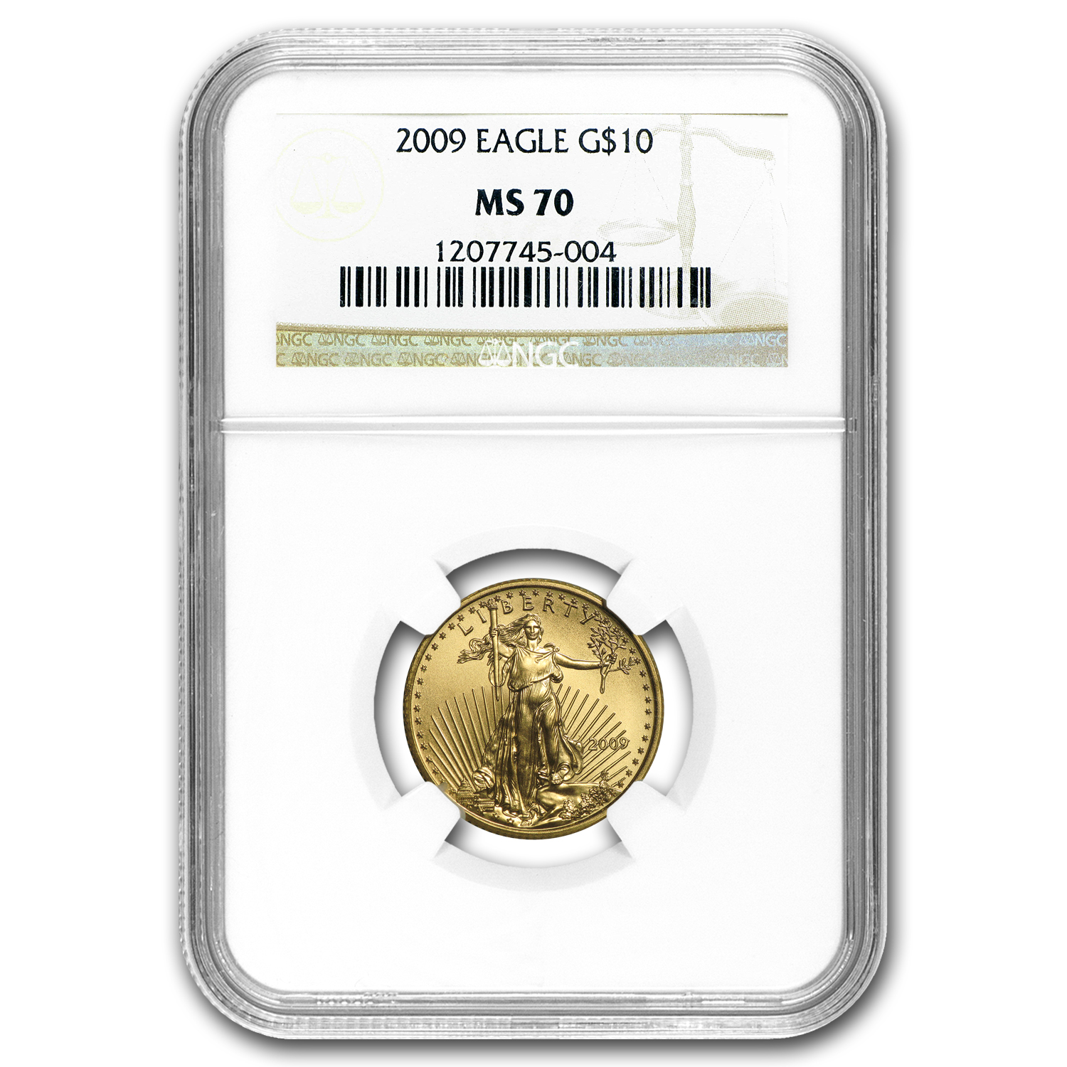 2009 1/4 oz Gold American Eagle MS-70 NGC