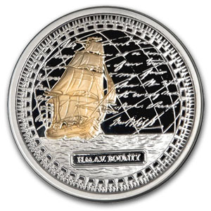 2010 HMAV Bounty 1 oz Gilded Silver 2-Coin Collector Set