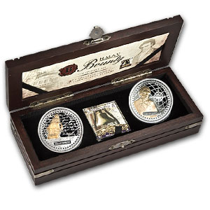 2010 2-Coin 1 oz Silver $2 HMAV Bounty Collector Set (Gilded)