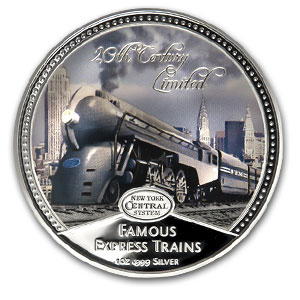2010 Niue 4x 1 oz Silver $2 Famous Express Trains Prf Set (w/Box)