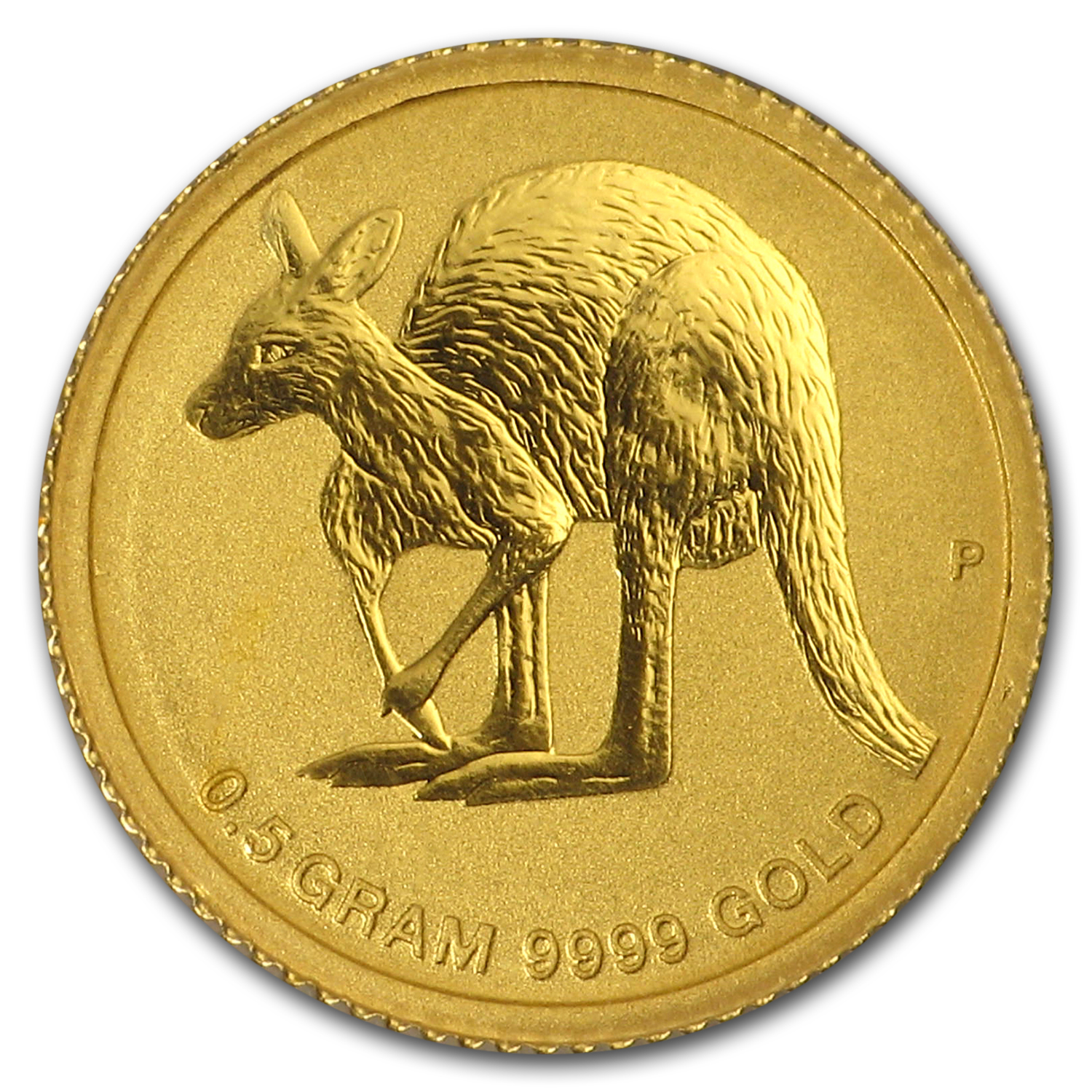 2011 1/2 Gram Australian Gold Kangaroo Mini Roo - On Gift Card