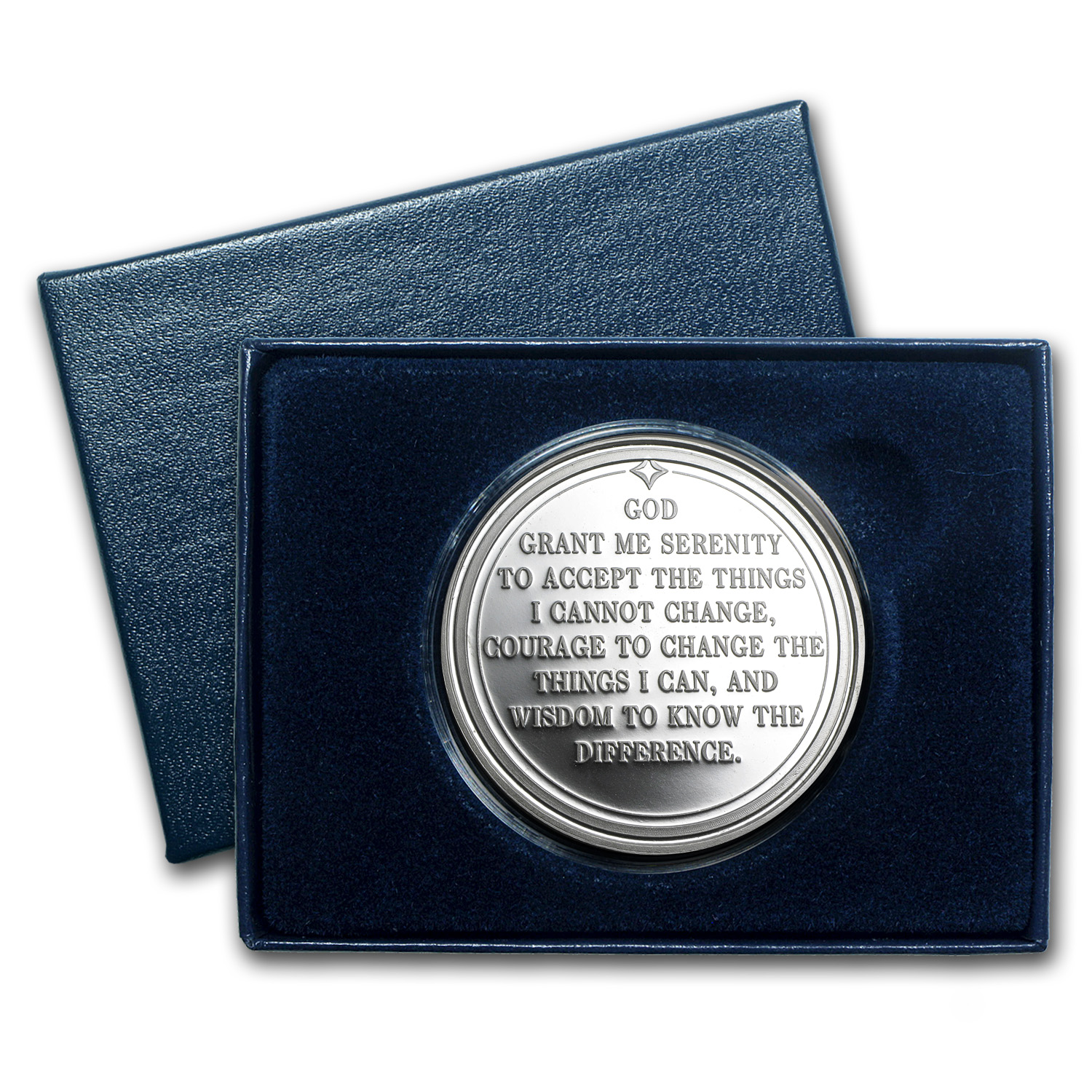 1 oz Silver Rounds - Serenity Prayer (w/Box & Capsule)