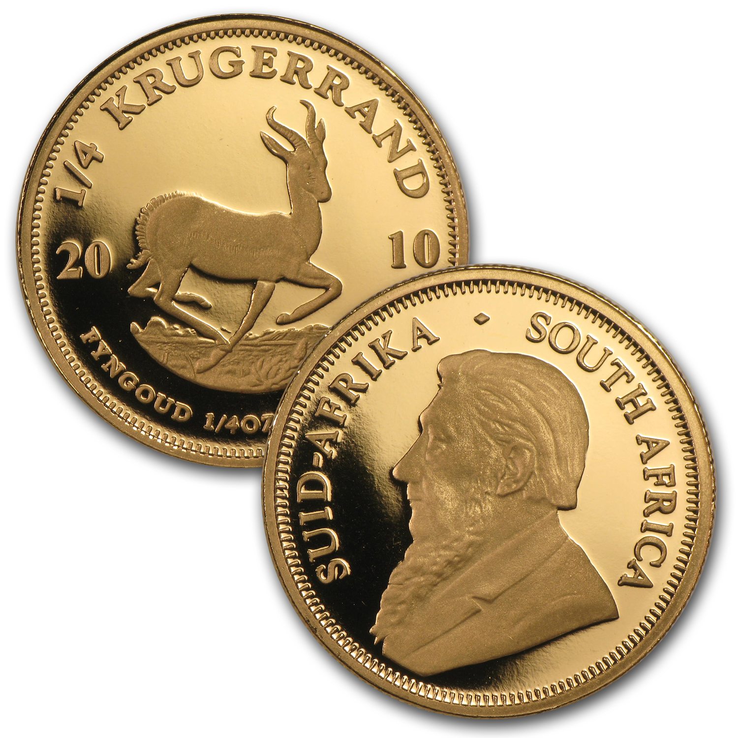 2010 South Africa 4-Coin Gold Krugerrand Frac. Set (w/Box & COA)