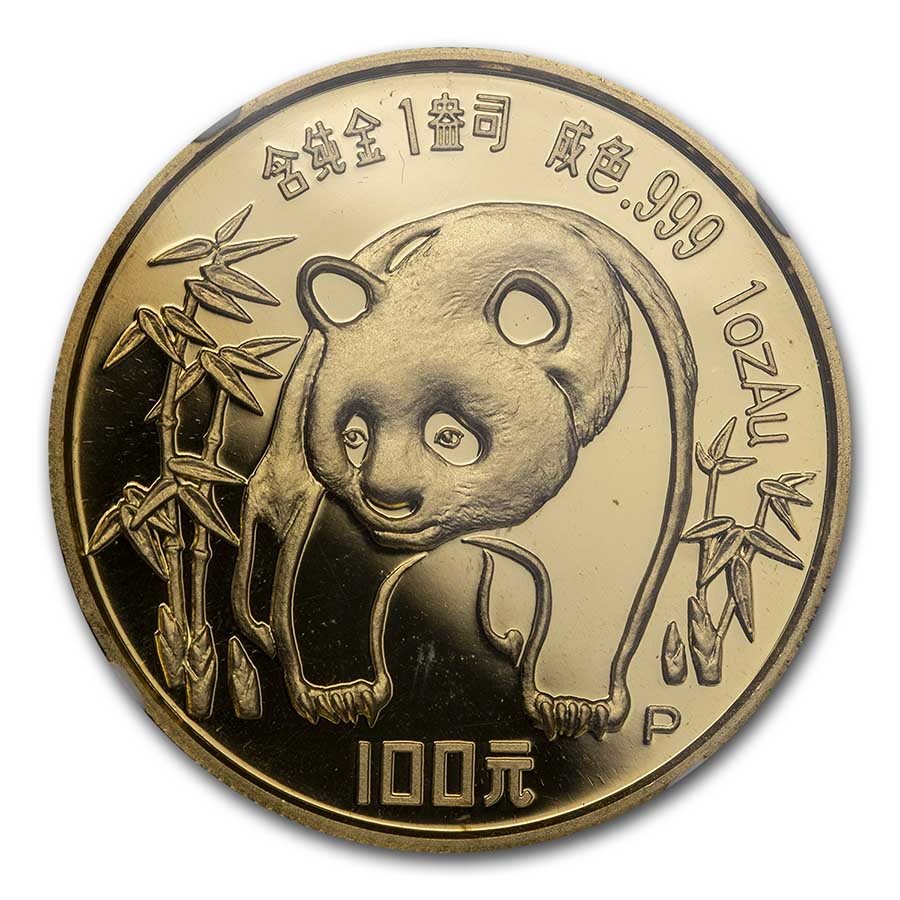 1986 China 1 oz Proof Gold Panda PF-68 NGC