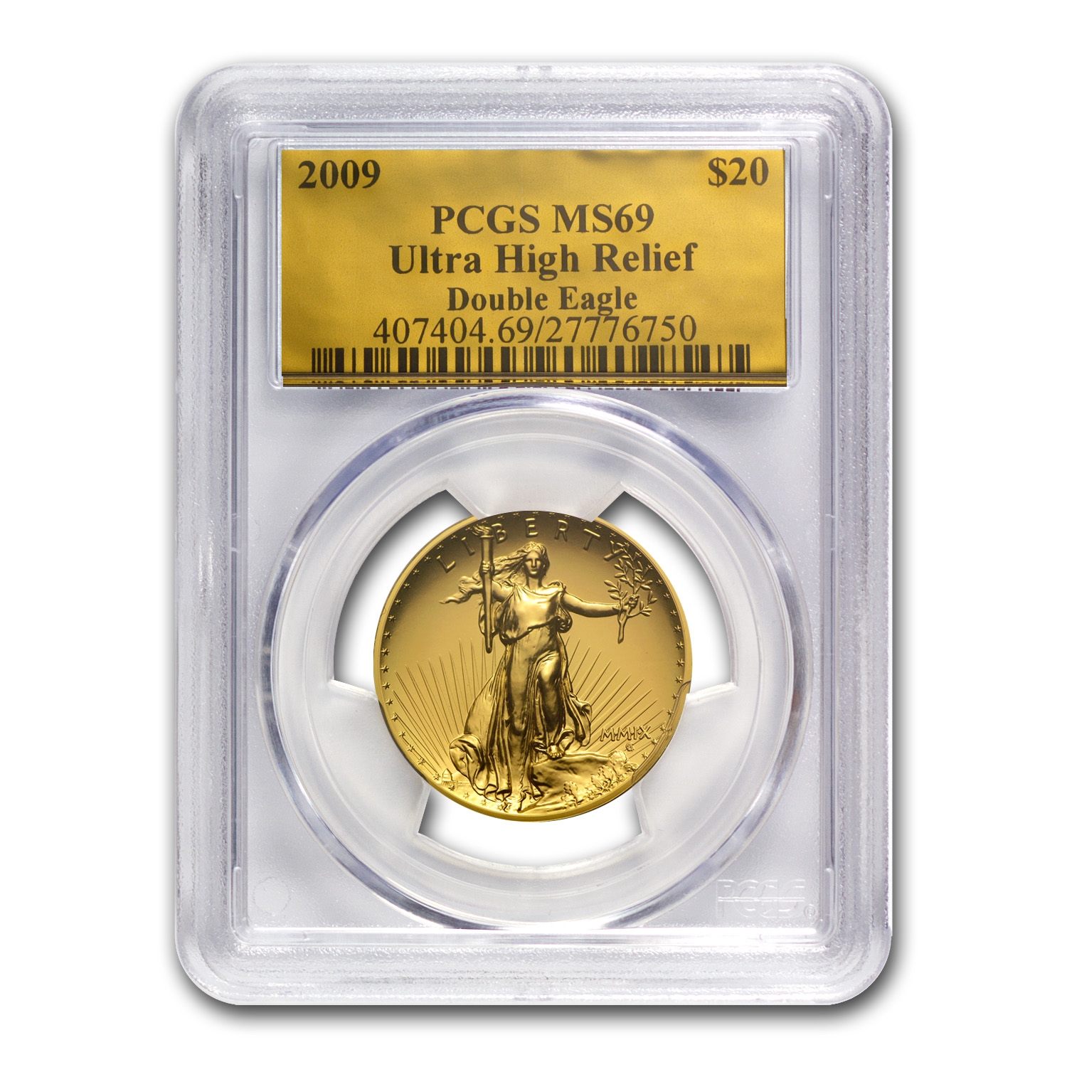 2009 Ultra High Relief Double Eagle MS-69 PCGS (Gold Foil)