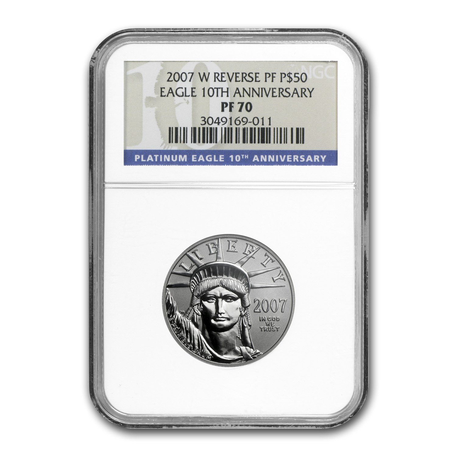 2007-W 2-Coin Proof Platinum Eagle Set PF-70 NGC 10th Anniversay
