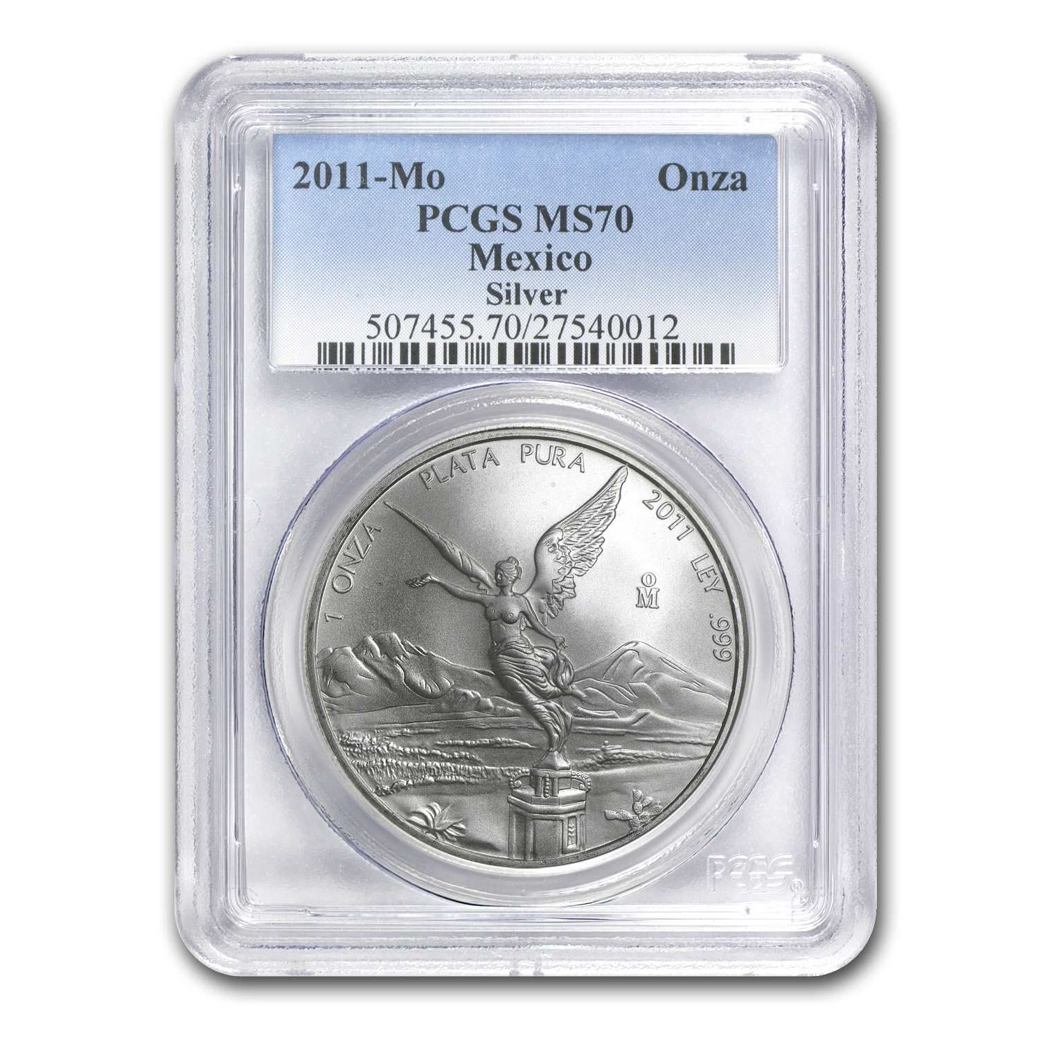 2011 1 oz Silver Mexican Libertad MS-70 PCGS