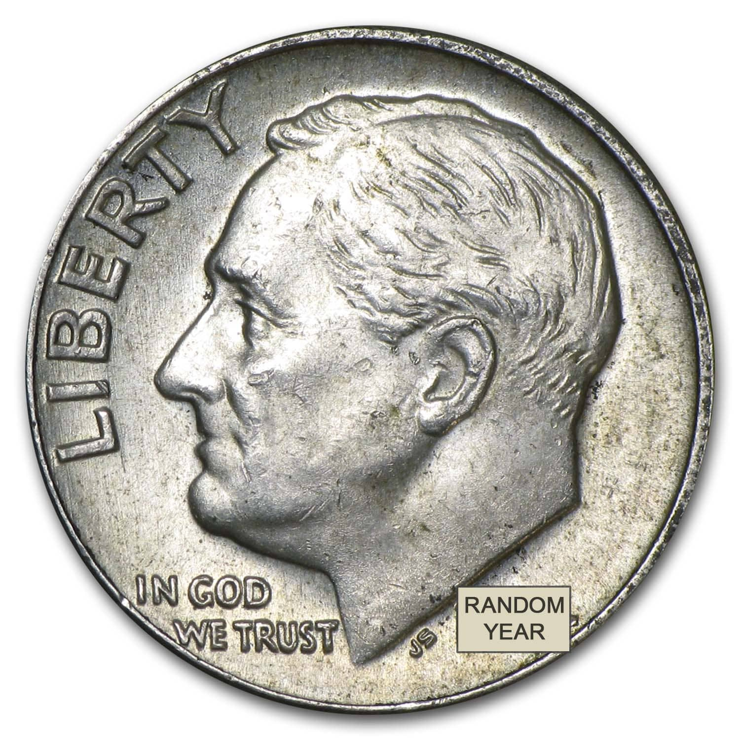 90% Silver Roosevelt Dimes - $500 Face-Value Bag