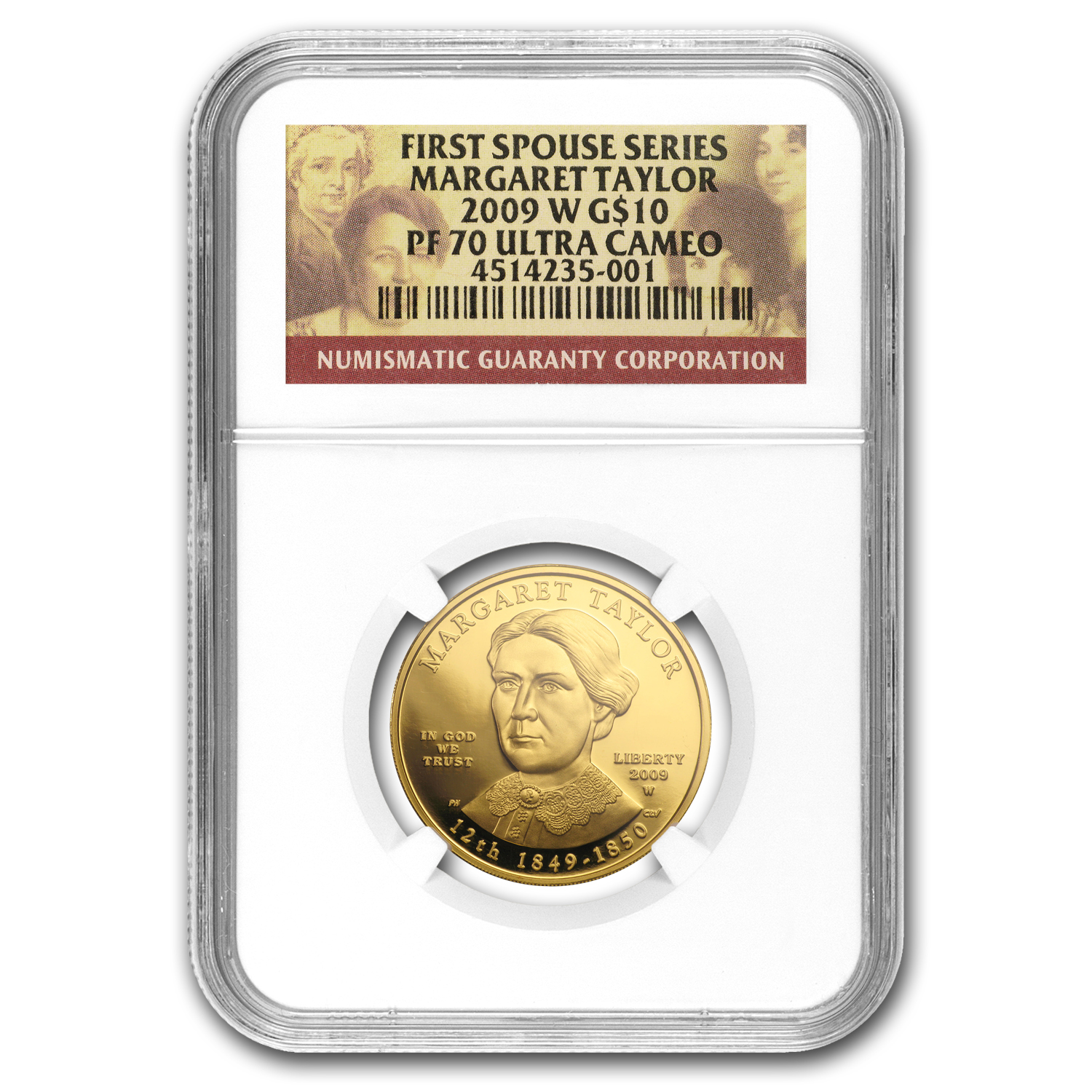 2009-W 1/2 oz Proof Gold Margaret Taylor PF-70 NGC