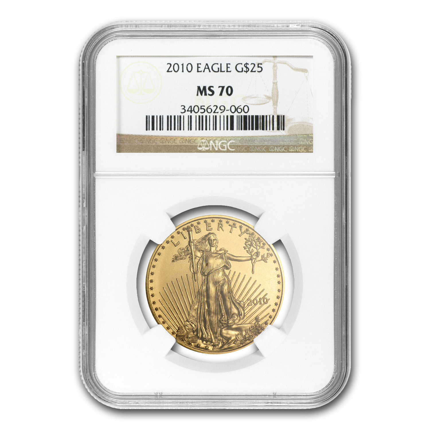 2010 1/2 oz Gold American Eagle MS-70 NGC