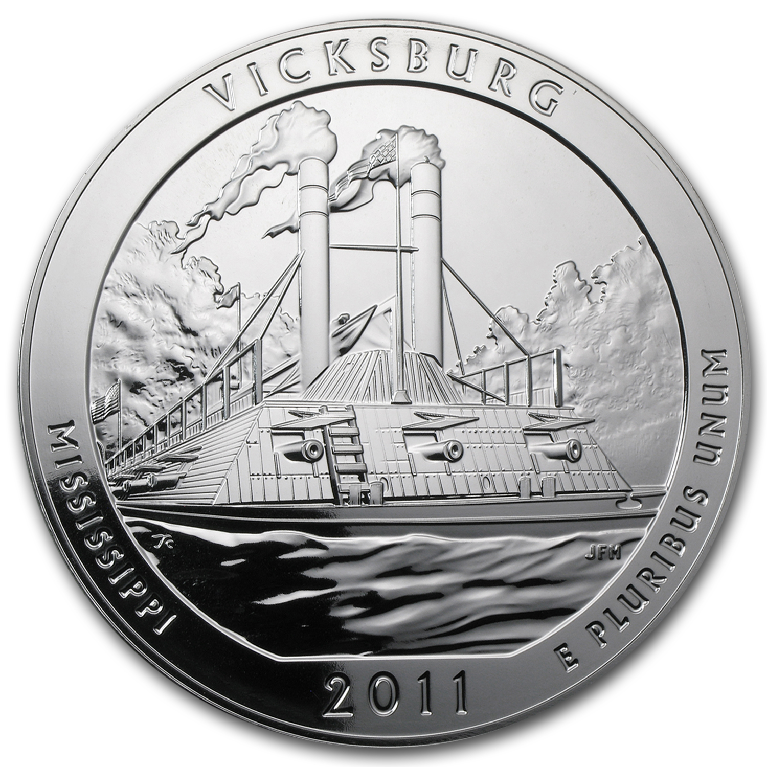 2011 5 oz Silver ATB Vicksburg, MS (10-Coin MintDirect® Tube)