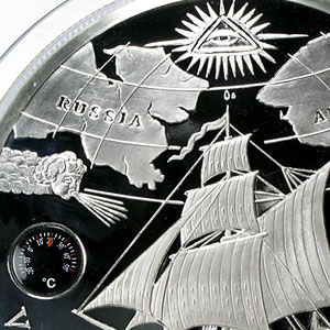 2011 British Virgin Islands 5 Kilo Silver Proof - Vitus Bering