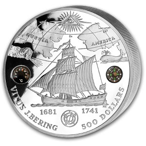 2011 British Virgin Islands 5 kilo Silver Vitus Bering Proof