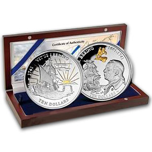 2011 British Virgin Islands Silver Proof Vitus Bering 2-Coin Set