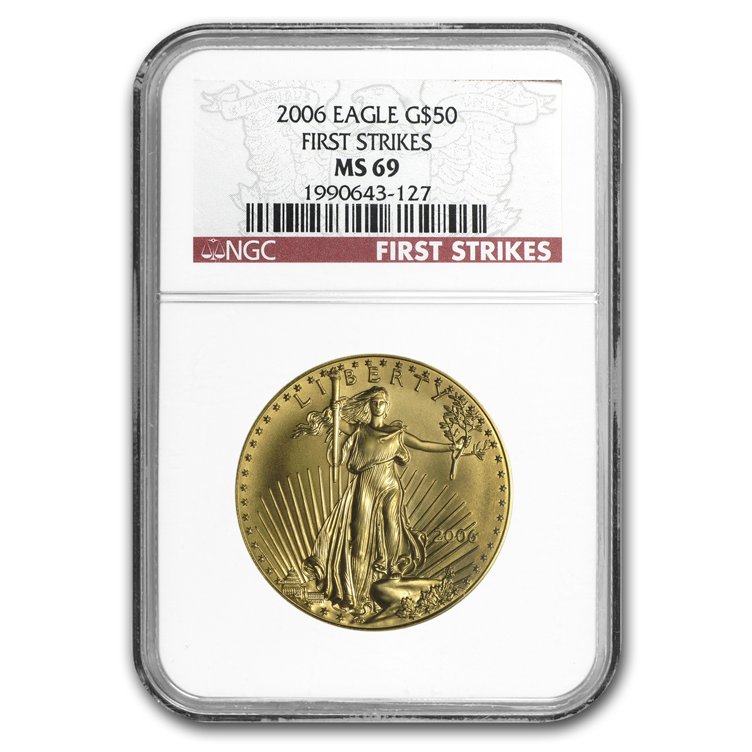 2006 1 oz Gold American Eagle MS-69 NGC (First Strikes)