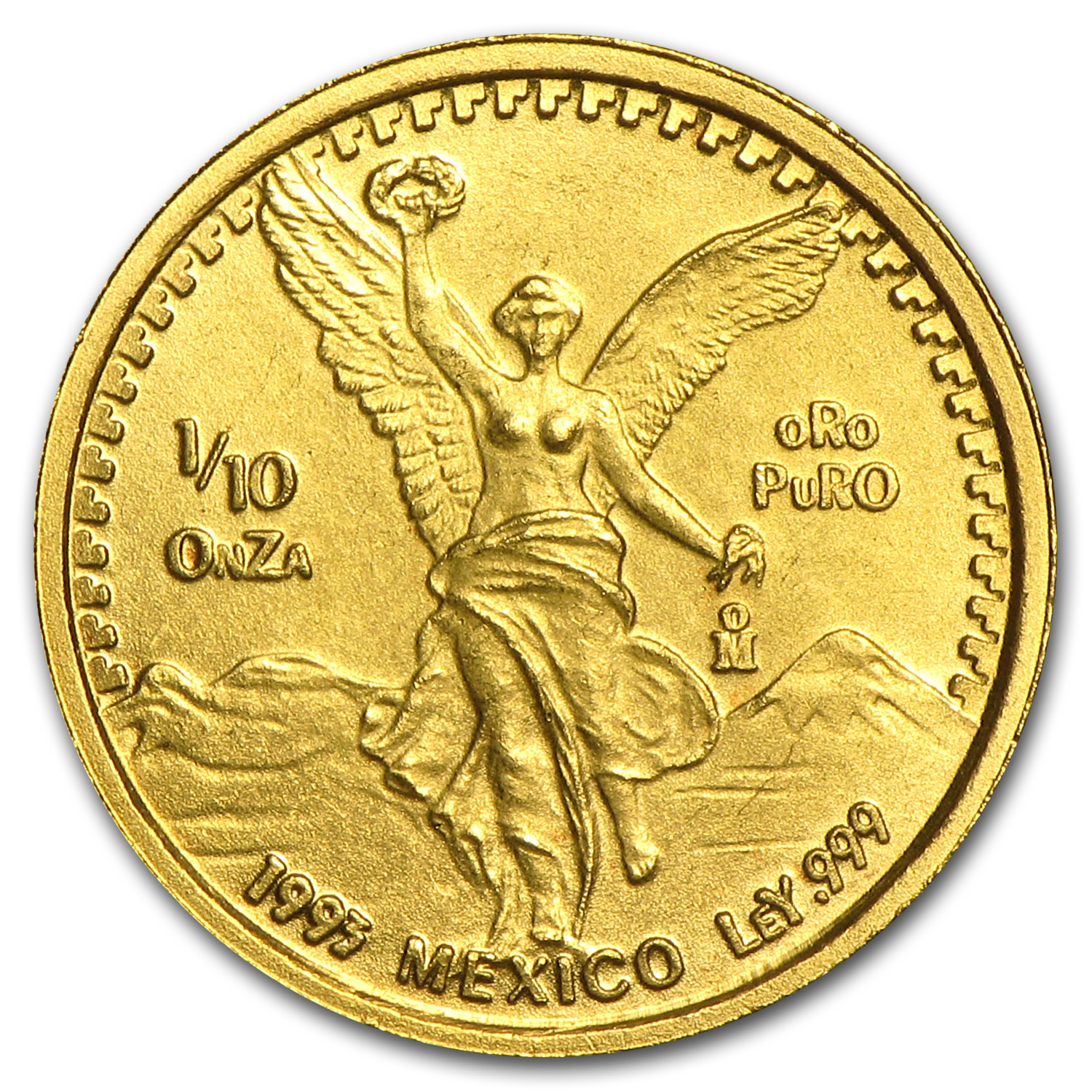 1993 1/10 oz Gold Mexican Libertad BU