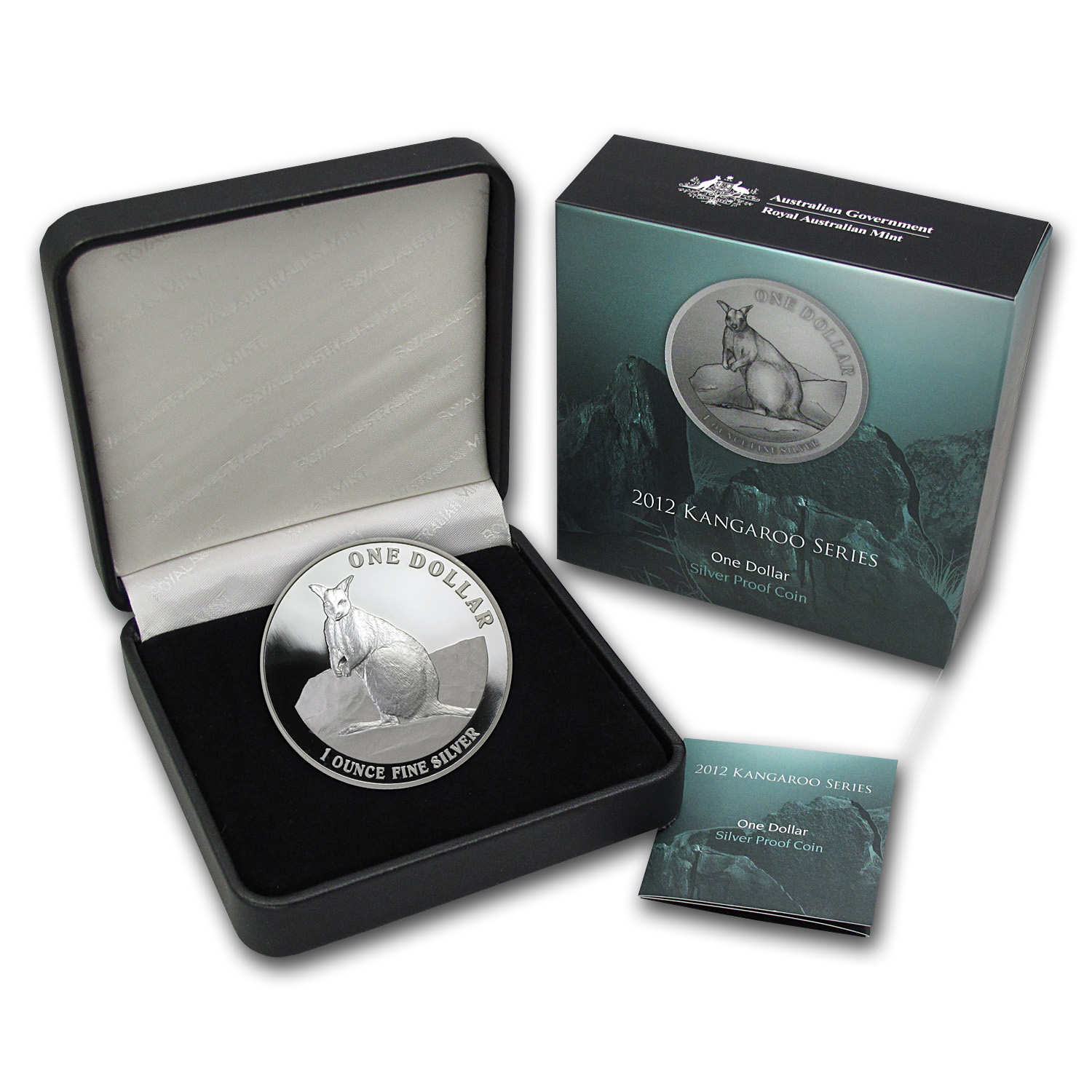 2012 1 oz Australian Proof Silver Kangaroo (With Box & CoA)