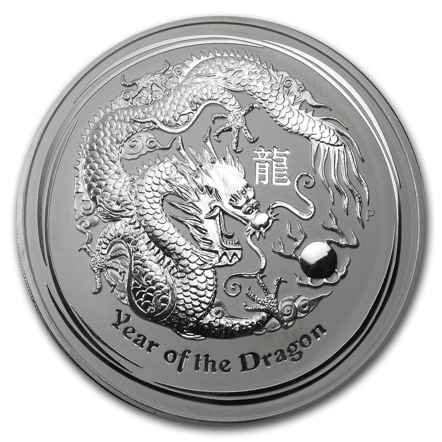 2012 1 Kilo Silver Australian Year of the Dragon BU