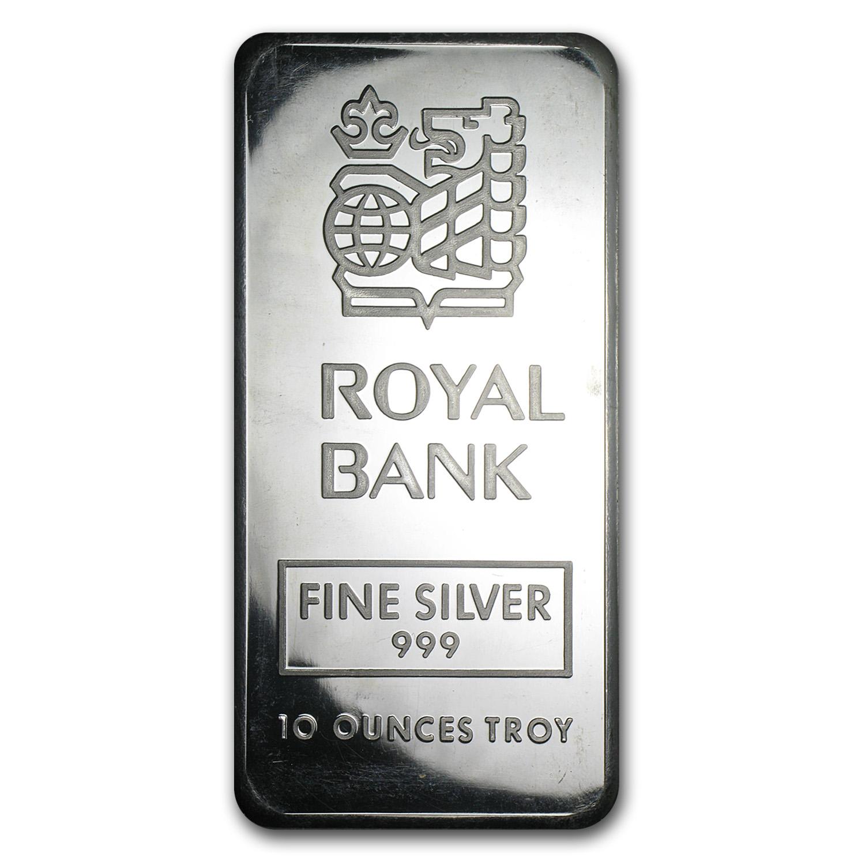 10 Oz Silver Bar Johnson Matthey Royal Bank Of Canada