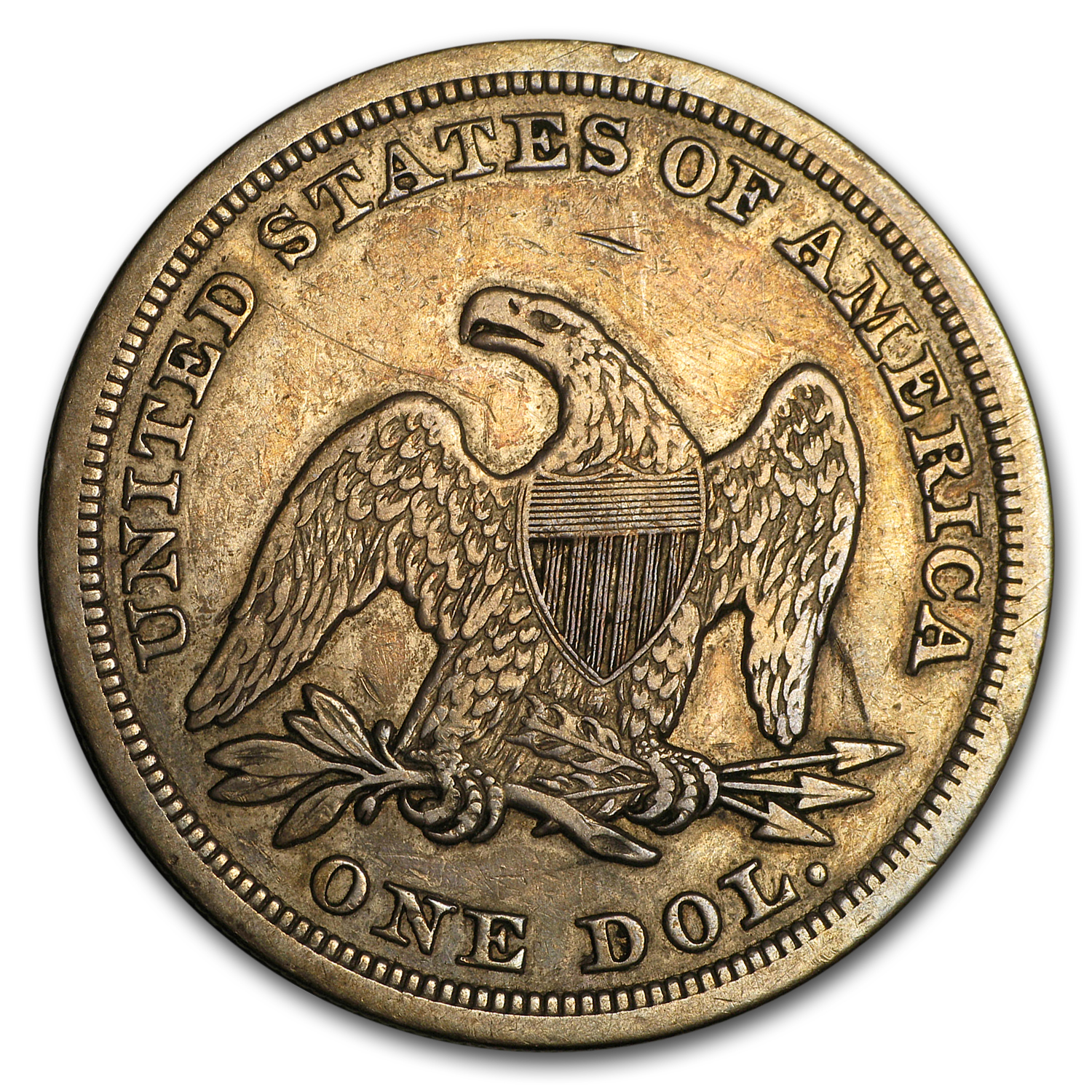 1847 Liberty Seated Dollar VF