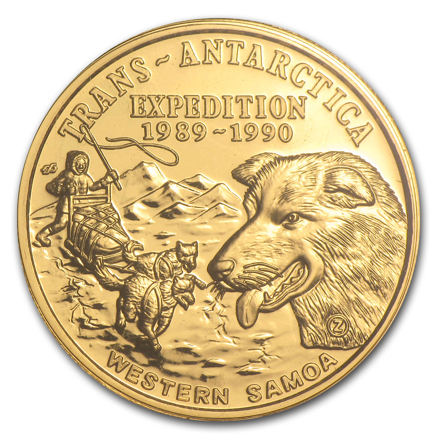 1988 Samoa Gold 50 Tala Antarctic Expedition (.2496 AGW)