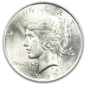 1922 Peace Dollar MS-63 PCGS (VAM-2E, Wing Die Break, Top-50)