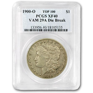 1900-O XF-40 PCGS (VAM-29A, Obverse Die Break, Top-100)