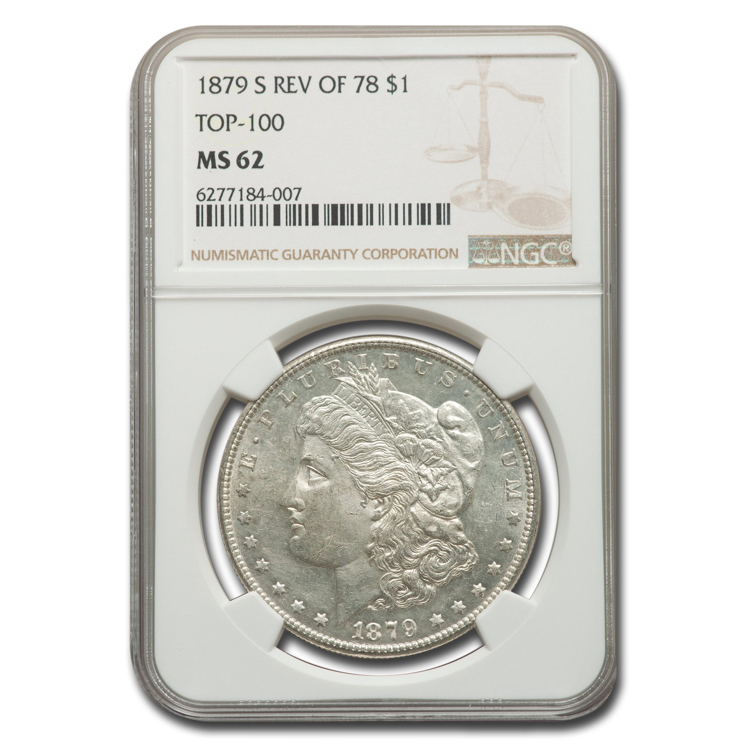 1879-S Morgan Dollar Rev of 78 MS-62 NGC