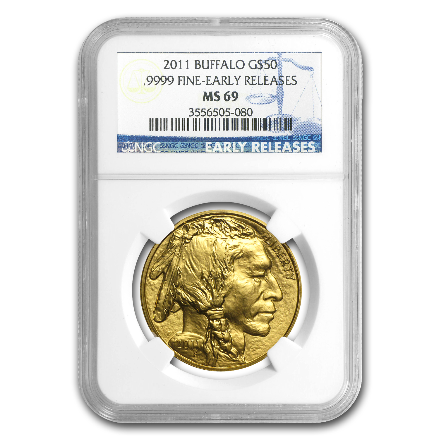2011 1 oz Gold Buffalo MS-69 NGC (Early Releases)