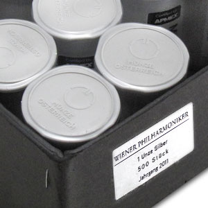 2011 1 oz Silver Philharmonics (20-Coin MintDirect® Tube)