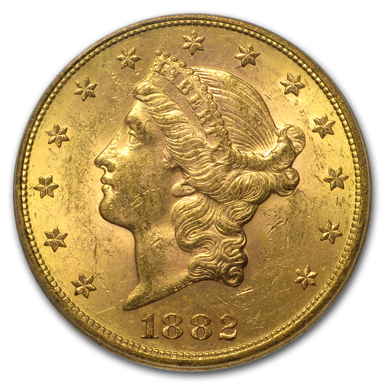 1882-S $20 Gold Liberty Double Eagle MS-62 PCGS