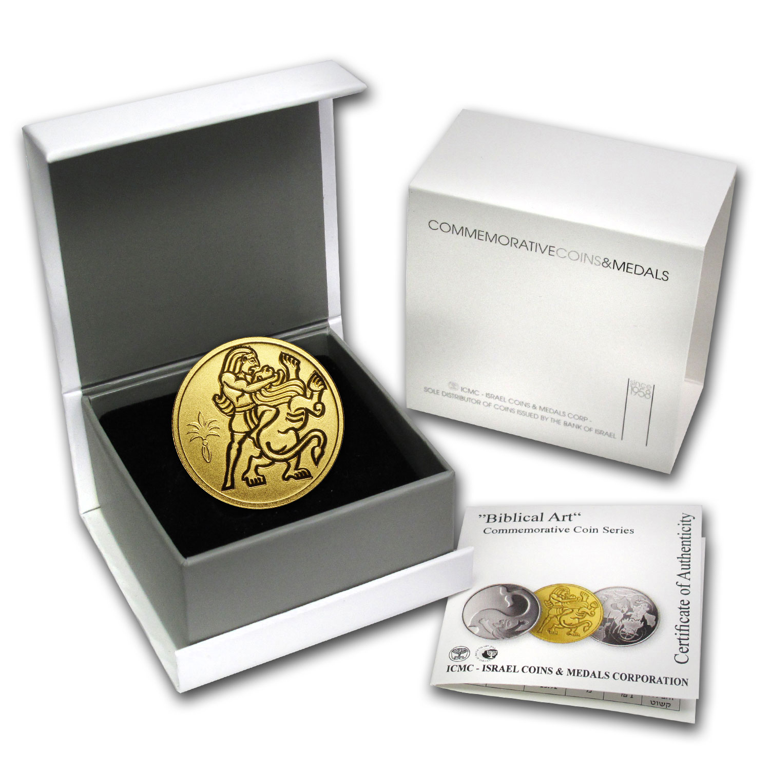 2009 Israel 1/25 oz Proof Gold Samson and the Lion