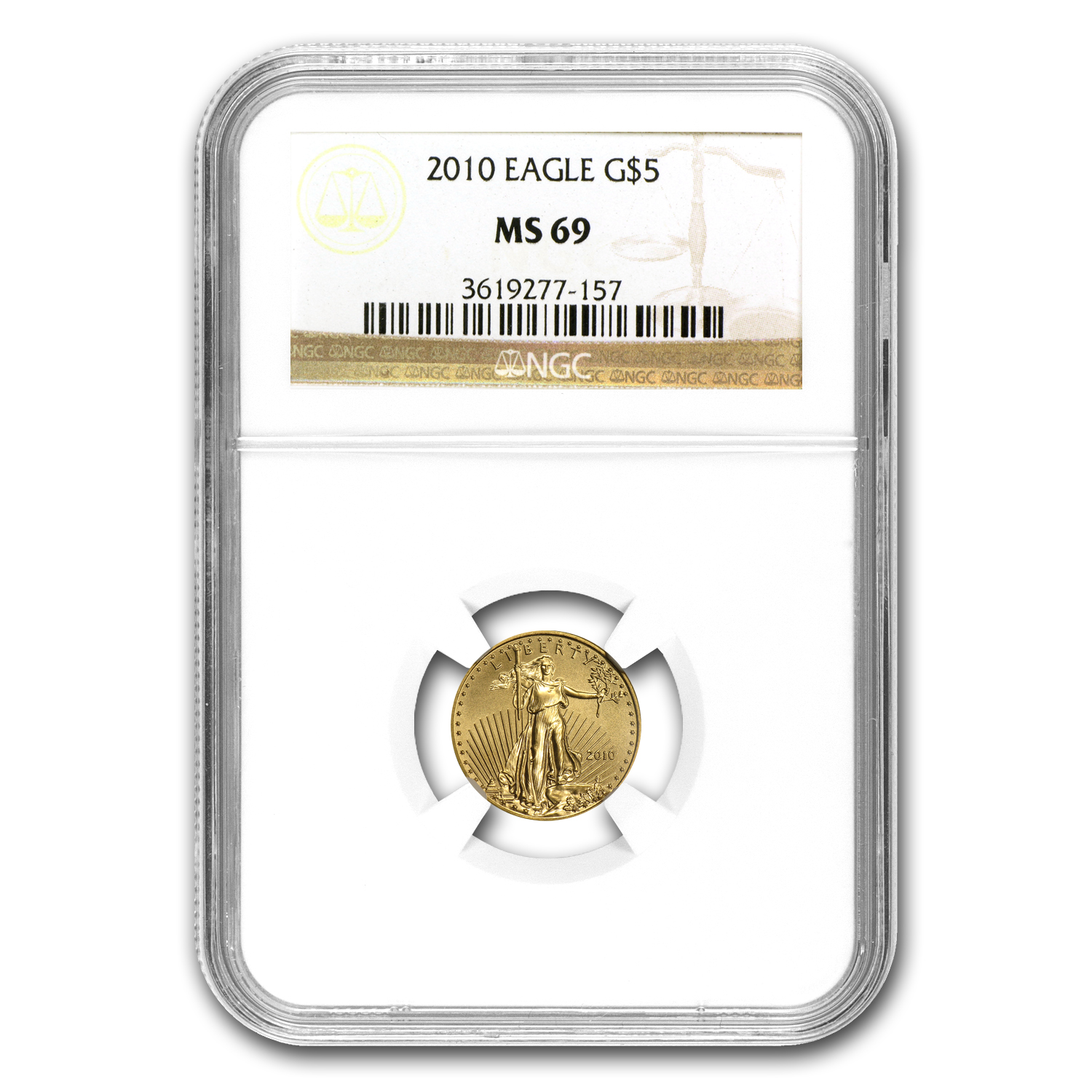 2010 1/10 oz Gold American Eagle MS-69 NGC