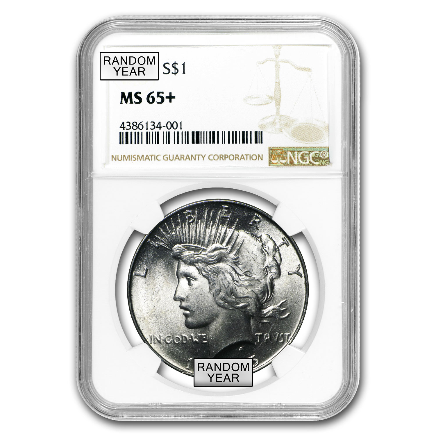1922-1925 Peace Dollars MS-65+ NGC