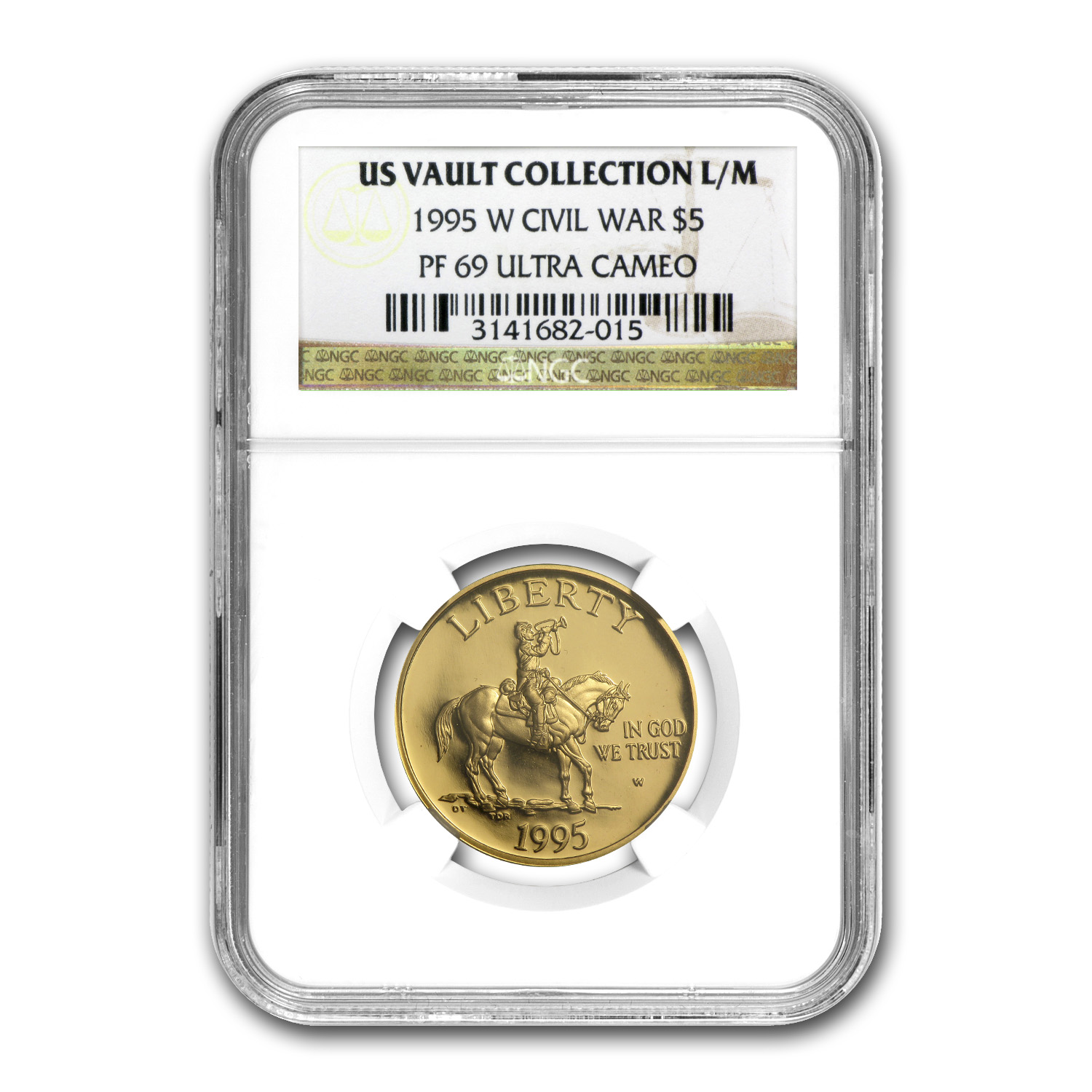 1995-W Gold $5 Commem Civil War PF-69 NGC