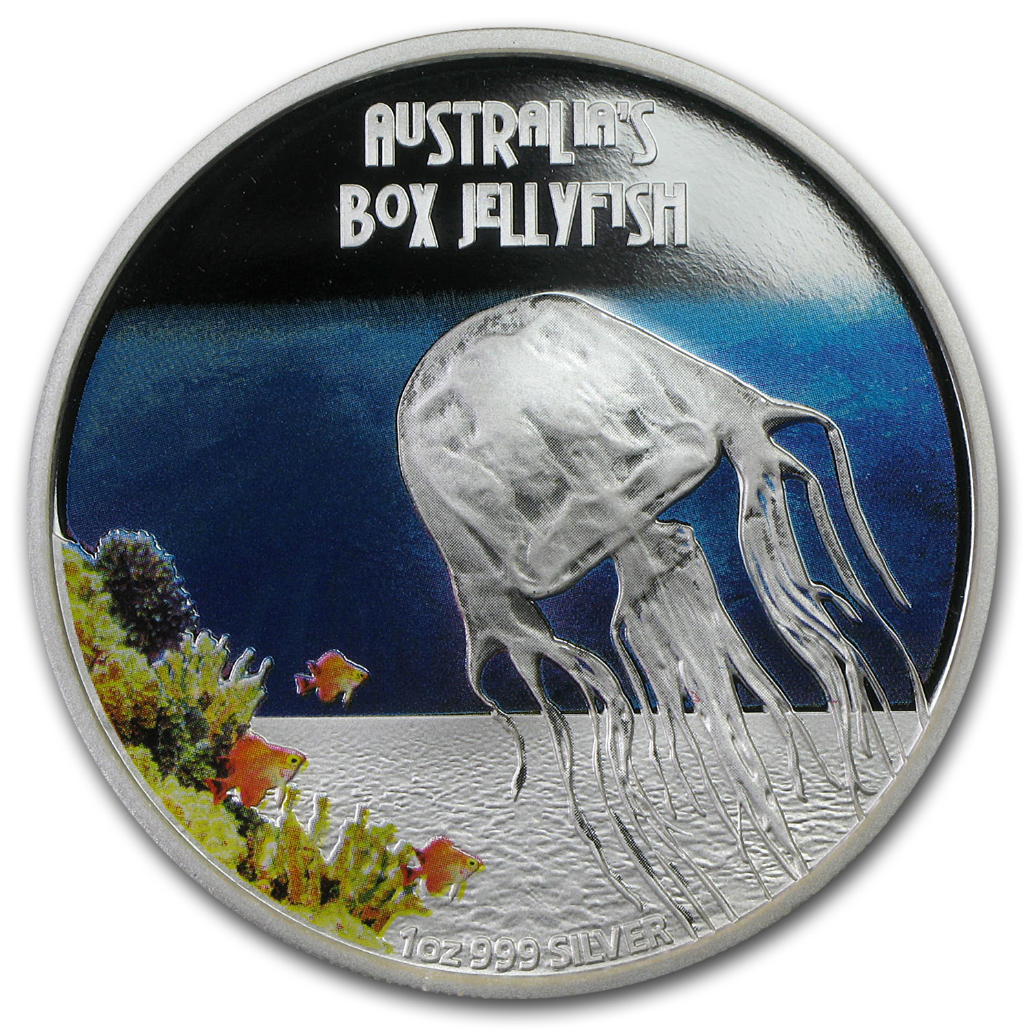 2011 1 oz Proof Silver Box Jellyfish - Deadly and Dangerous
