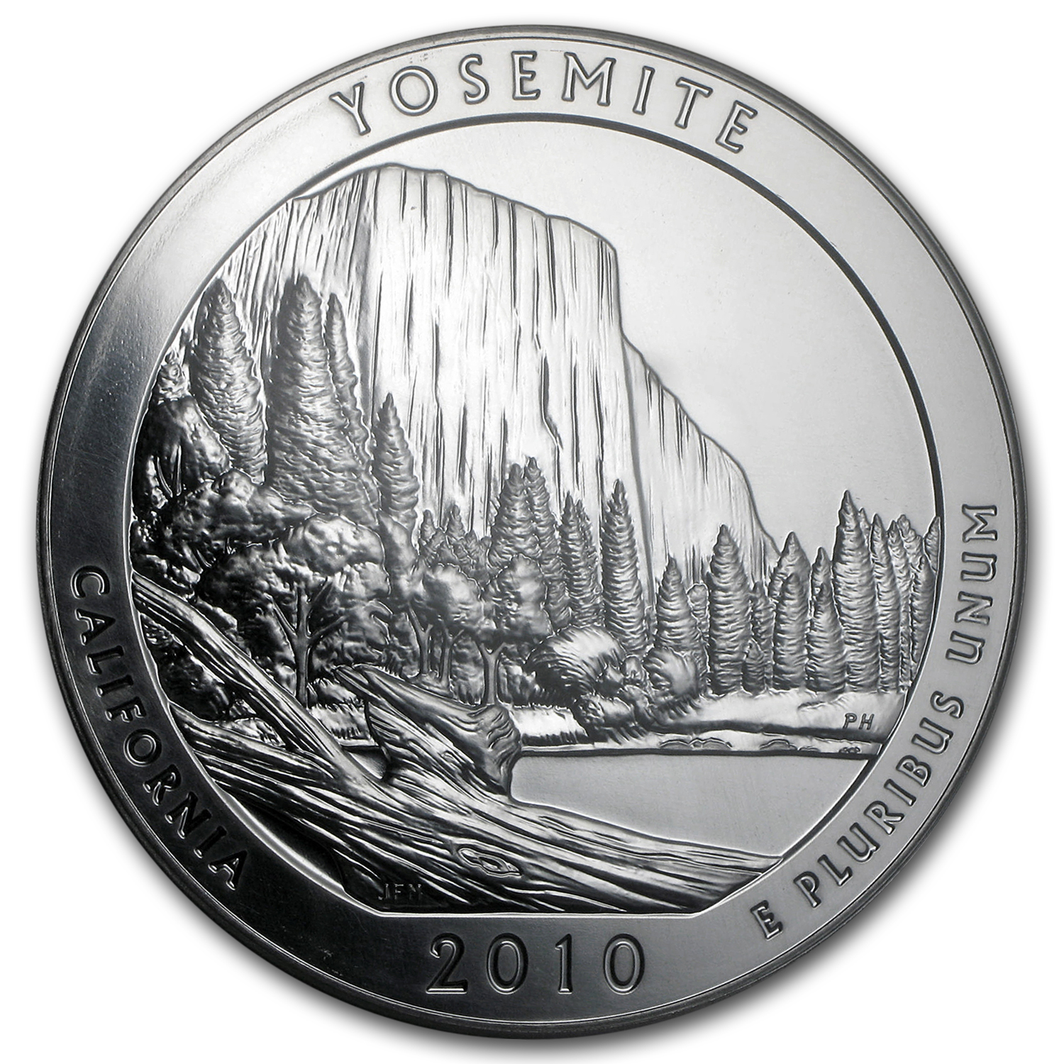 2010 5 oz Silver ATB Yosemite MS-69 DMPL PCGS (First Strike)