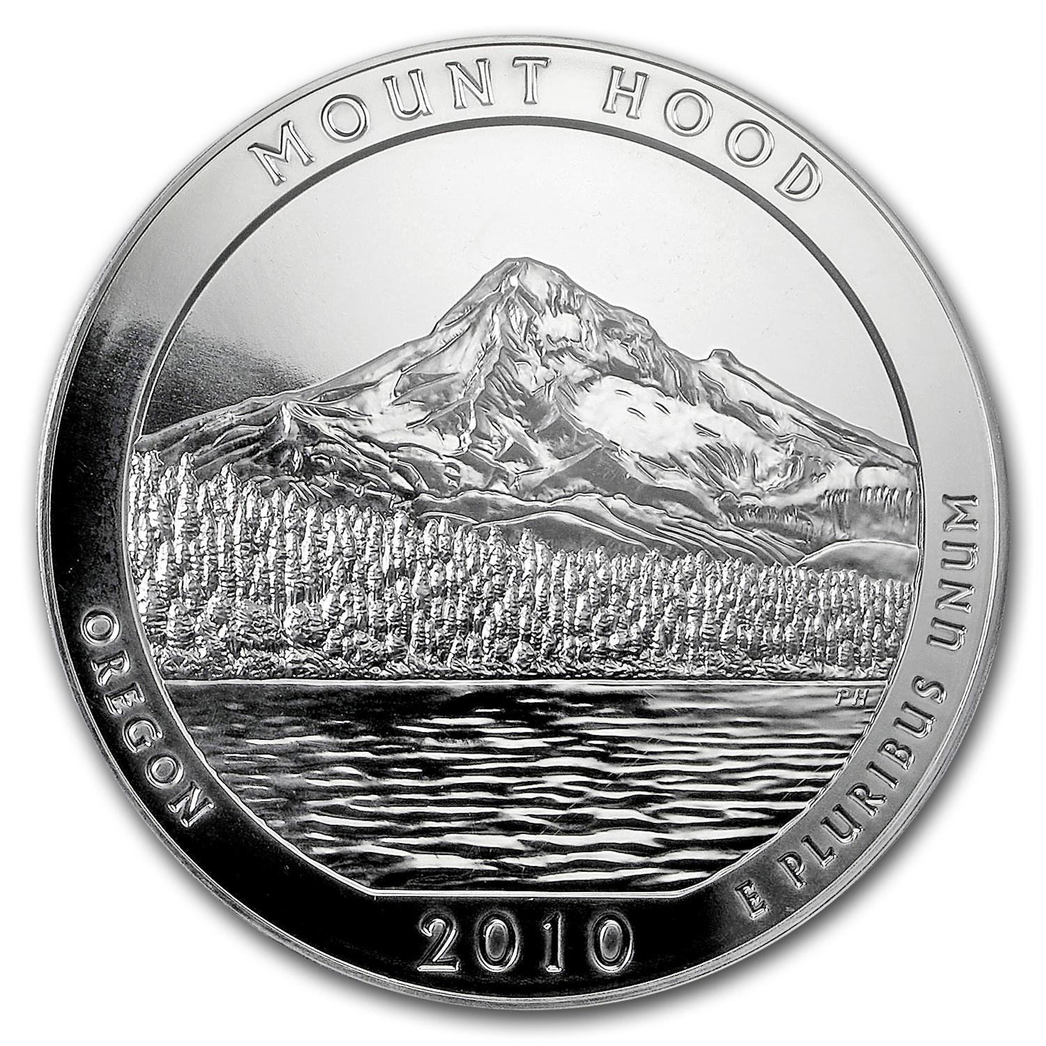 2010 5 oz Silver ATB Mount Hood PCGS MS-69 DMPL First Strike