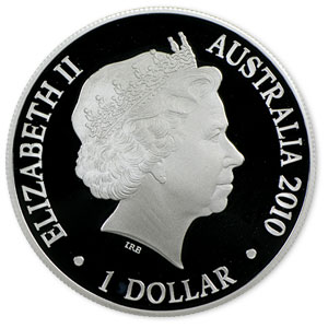 2010 1 oz Australian Proof Silver Kangaroo at Sunset F15 Privy
