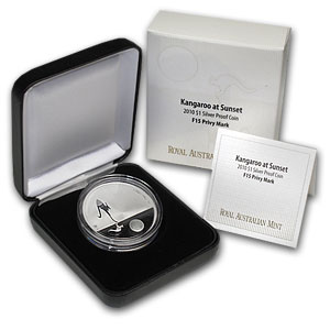 2010 Australia 1 oz Proof Silver Kangaroo at Sunset (F15 Privy)