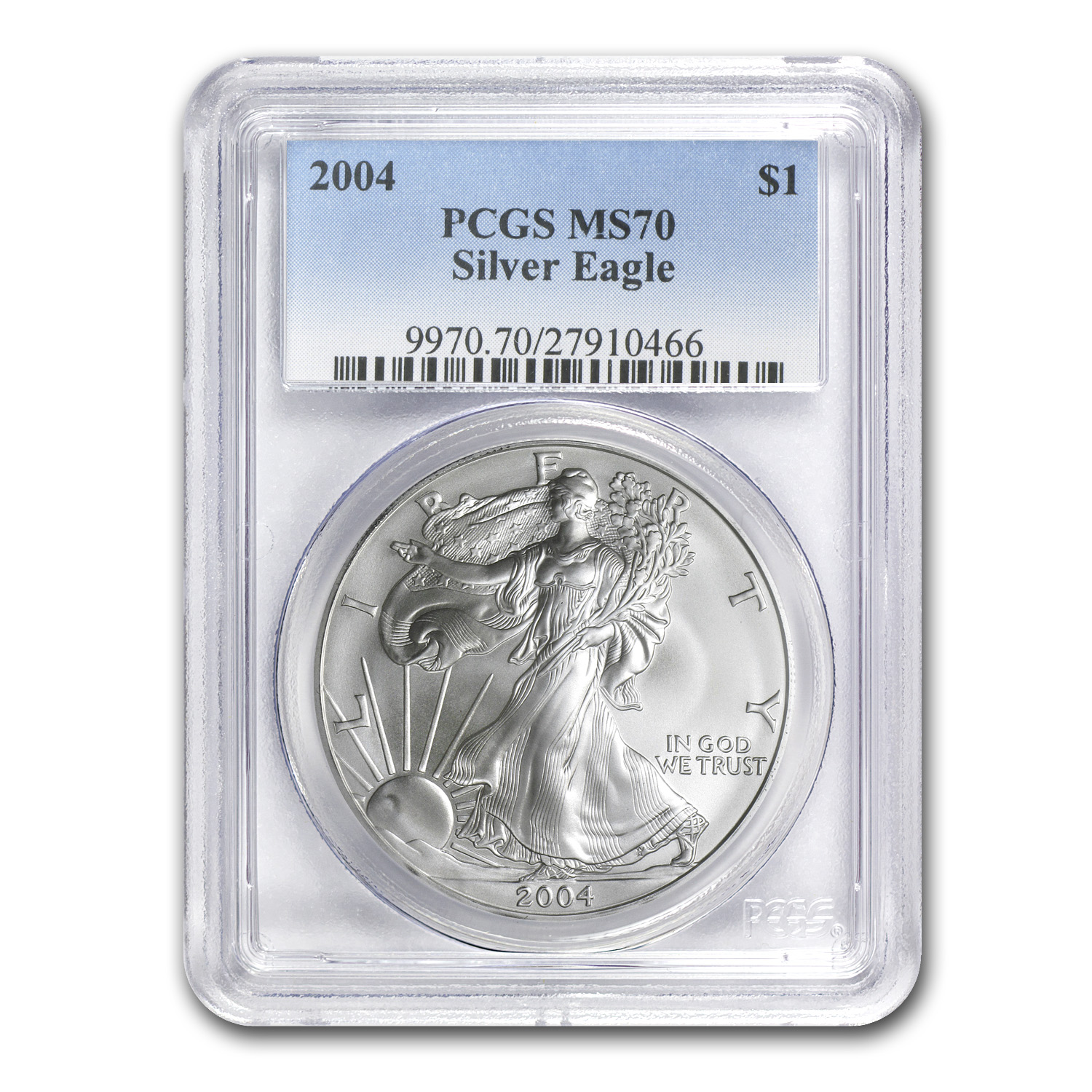 2004 Silver American Eagle MS-70 PCGS (Registry Set)