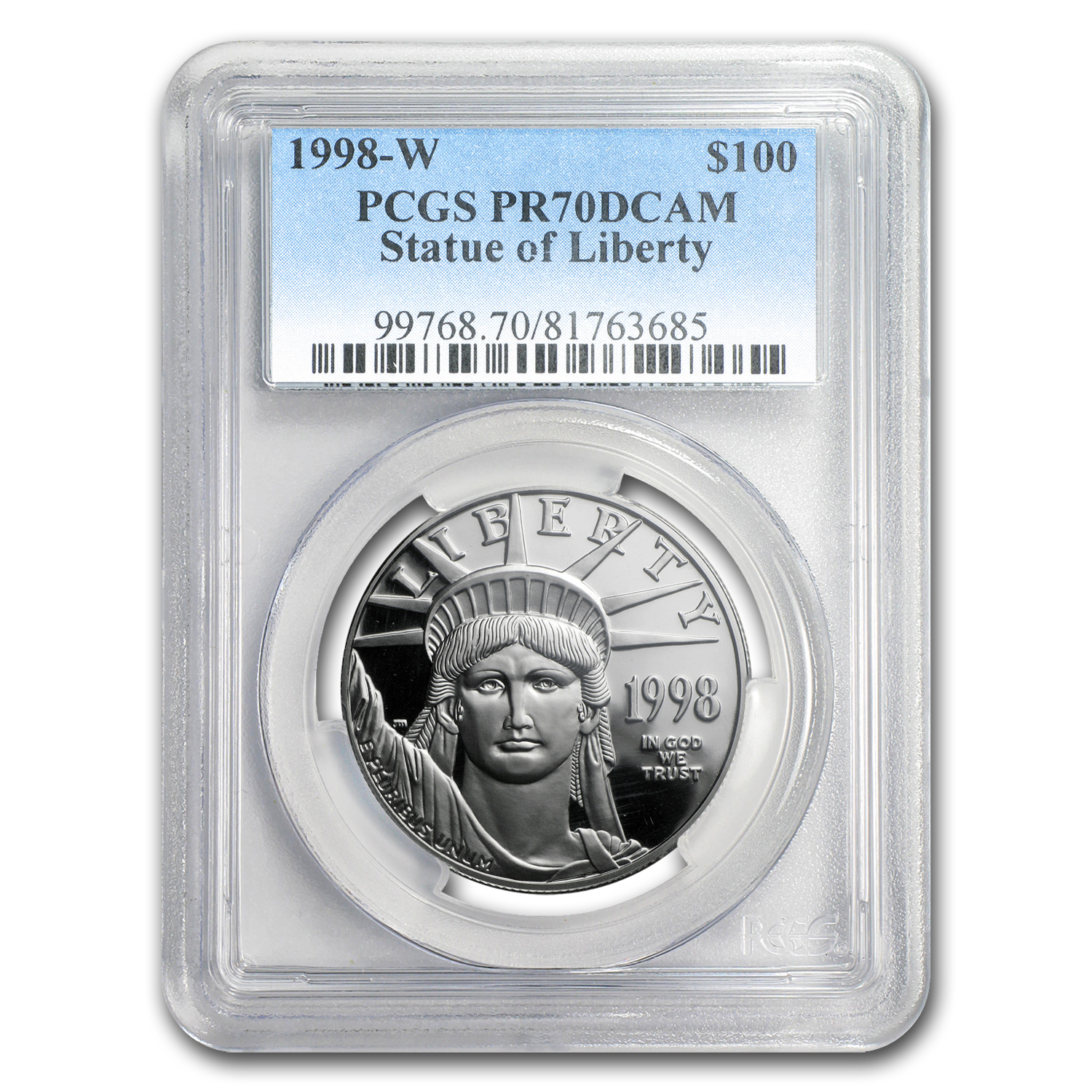 1998-W 1 oz Proof Platinum Eagle PR-70 PCGS (Registry Set)