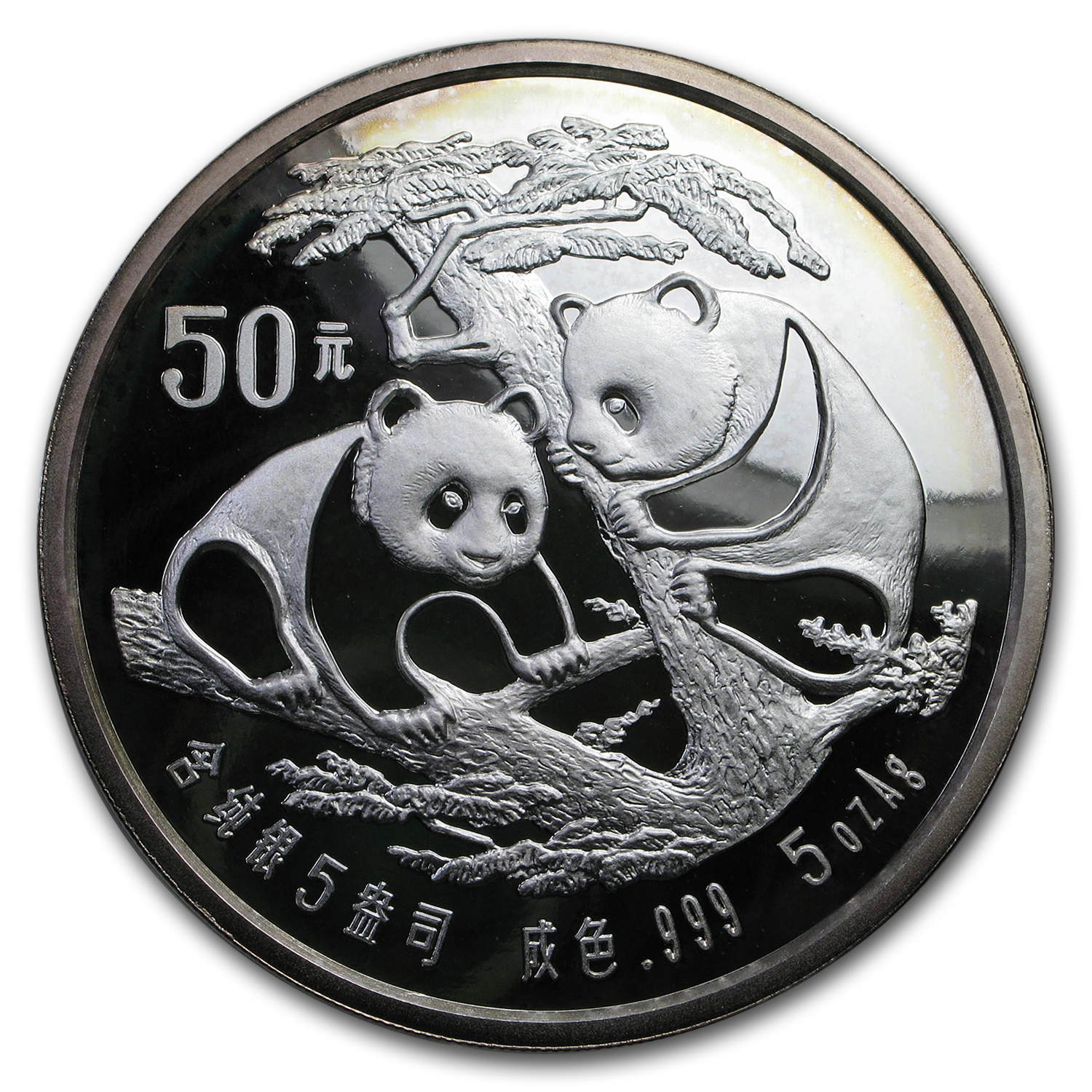 1988 China 5 oz Silver Panda Proof (Capsule only)