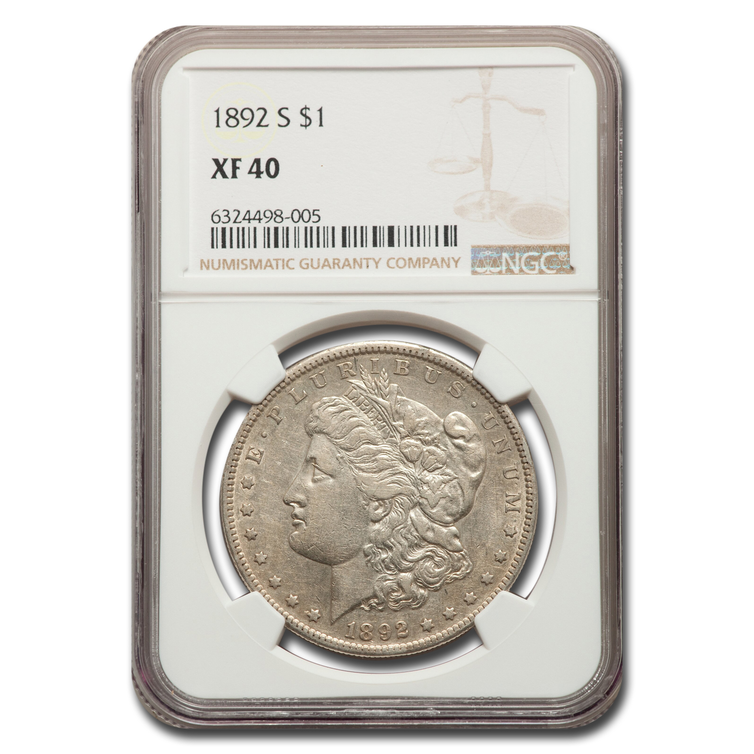 1892-S Morgan Dollar XF-40 NGC